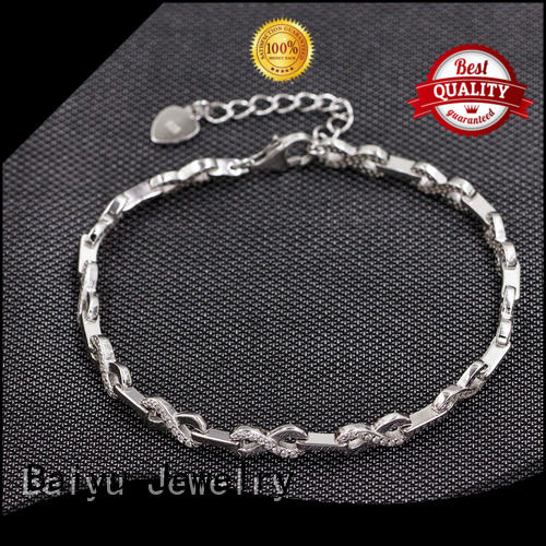Baiyu Jewelry friendship 925 silver bracelet material plated for women