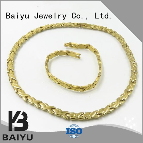 Baiyu Jewelry matching necklace and bracelet colorful for ladies