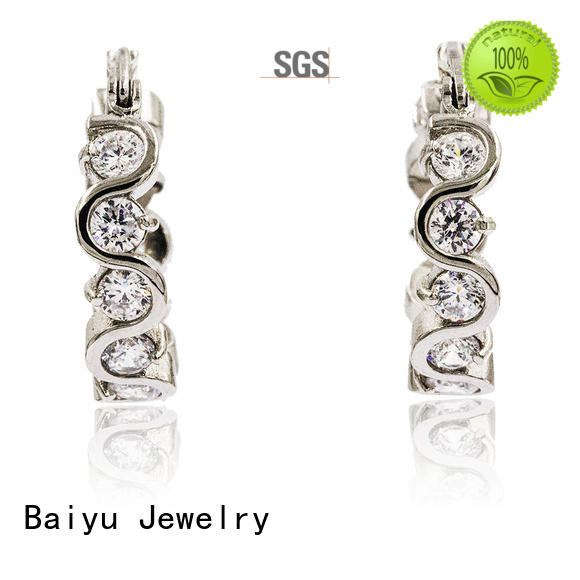 Baiyu Jewelry original design stainless steel jewelry earrings auspicious for girl