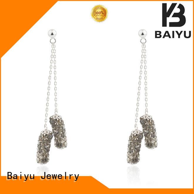 Black Diamond Cluster 925 Sterling Silver Party Jusnova Silver AE10134