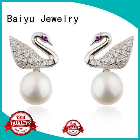Baiyu Jewelry long chain designer silver earrings bulk production for girlfriend