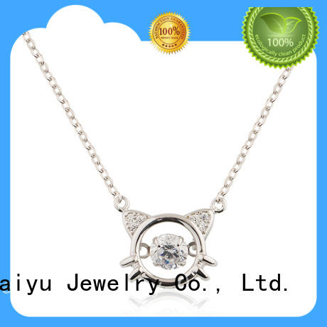 crystal silver chain for women charms inside for lady Baiyu Jewelry