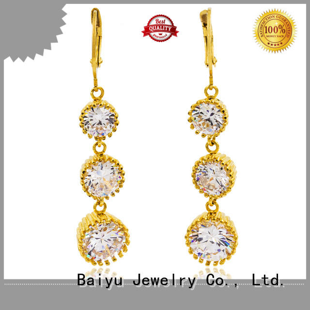 Baiyu Jewelry dangle drop earrings with crystal with jewelry