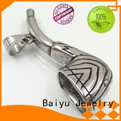 three-dimensional stainless steel chain with pendant free sample for gift Baiyu Jewelry