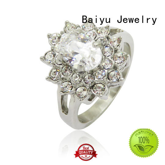 Baiyu Jewelry rose gold cheap stainless steel rings for ladies