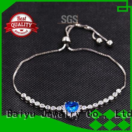 Amazon Wholesaler 925 Sterling Silver Bracelet With Blue Love Heart AS00031-L46