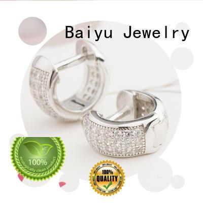 factory price 925 silver earrings bulk production for girl