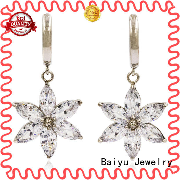 Baiyu Jewelry lucky dangle drop earrings in any shape for bridal