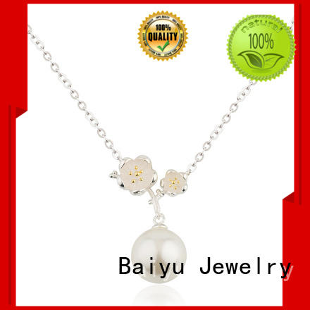 Fashionable Flower Necklace 925 Sterling Silver Yellow Flower Core Jusnova Silver AN30360