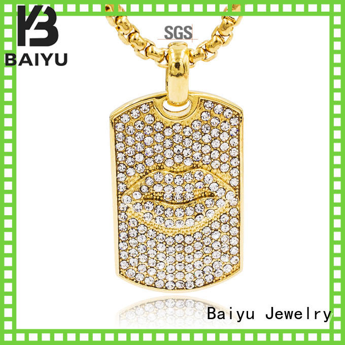 Baiyu Jewelry fashion designs stainless steel gold cuban link chain free sample