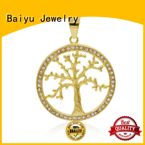 Baiyu Jewelry crystal stainless steel pendants wholesale gold for girls