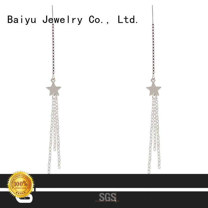Long Chain Earring 925 Sterling Silver Banquet Jusnova Silver AE40175