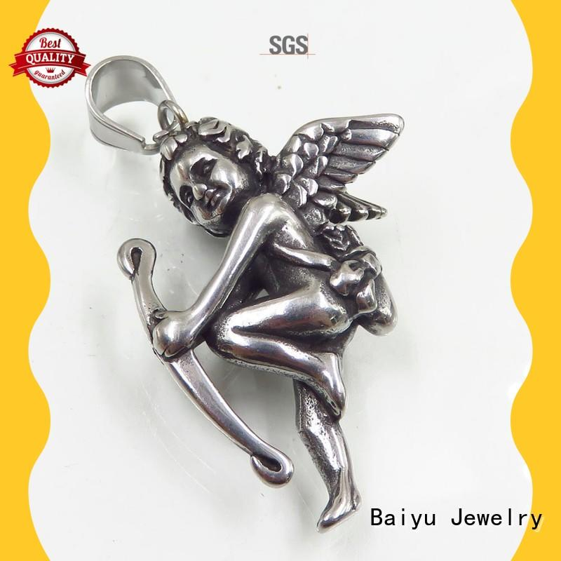 Baiyu Jewelry eiffel tower stainless steel pendants for large chains three-dimensional for girl
