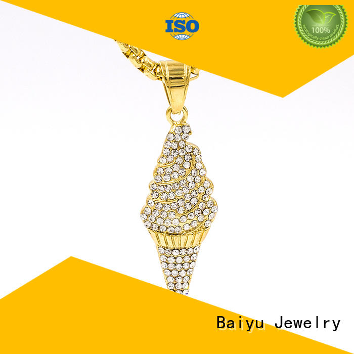 Baiyu Jewelry stainless steel necklace chain wholesale at discount for lady