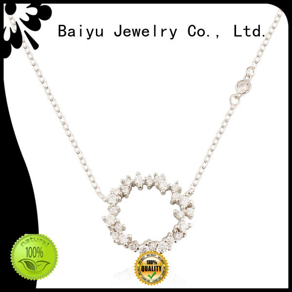 Baiyu Jewelry pendant necklaces characters bead for lady