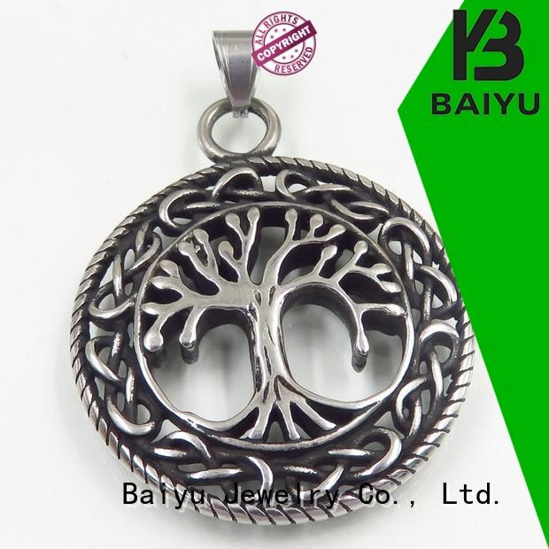 Baiyu Jewelry Brand ss charm stainless steel pendant women factory