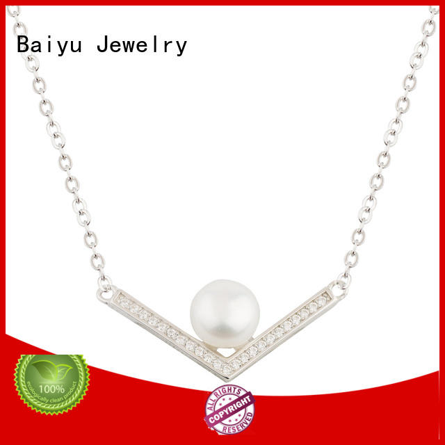 Clavicle Necklace 925 Sterling Silver Letter V Jusnova Silver AN30358