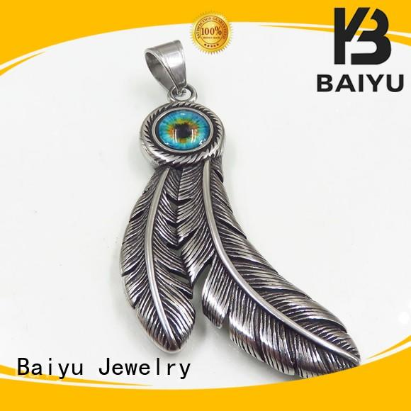 three-dimensional stainless steel necklace pendants romantic for lady Baiyu Jewelry