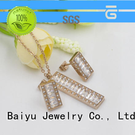 queen crown stainless jewelry set modern design for friendship