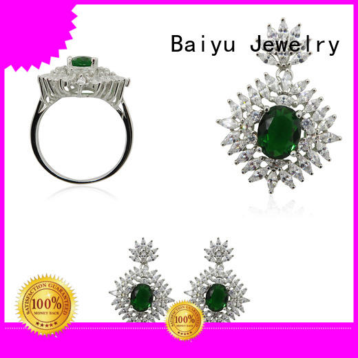 Baiyu Jewelry competitive price 925 silver set personalized color for women