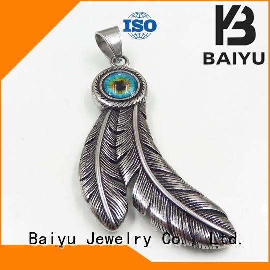 Baiyu Jewelry Brand shaped popular stainless steel pendants wholesale
