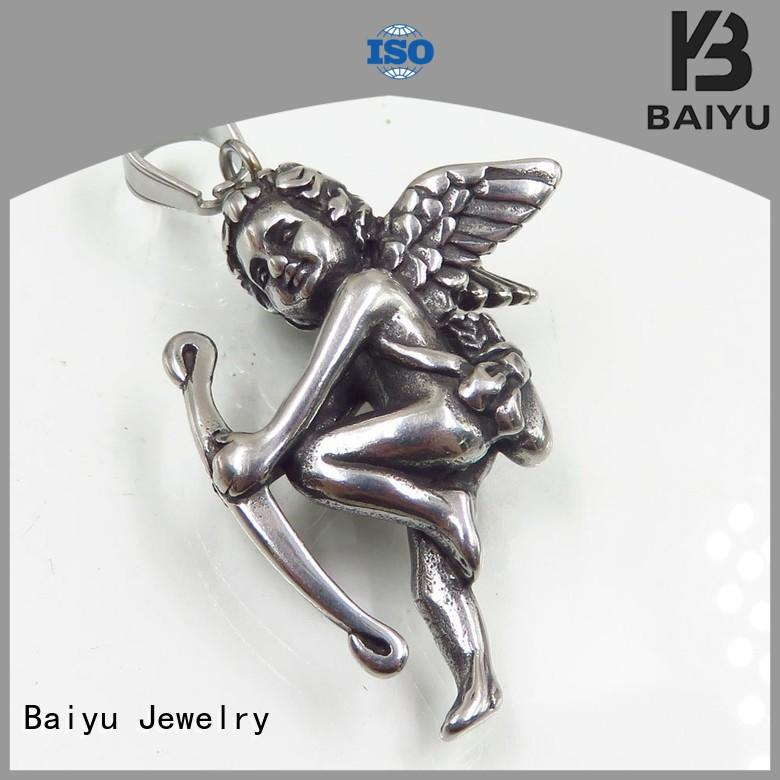 long custom stainless steel pendant for wholesale for lady