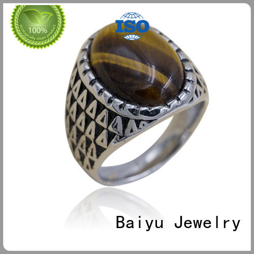 classic 316 stainless steel rings for wholesale for women Baiyu Jewelry