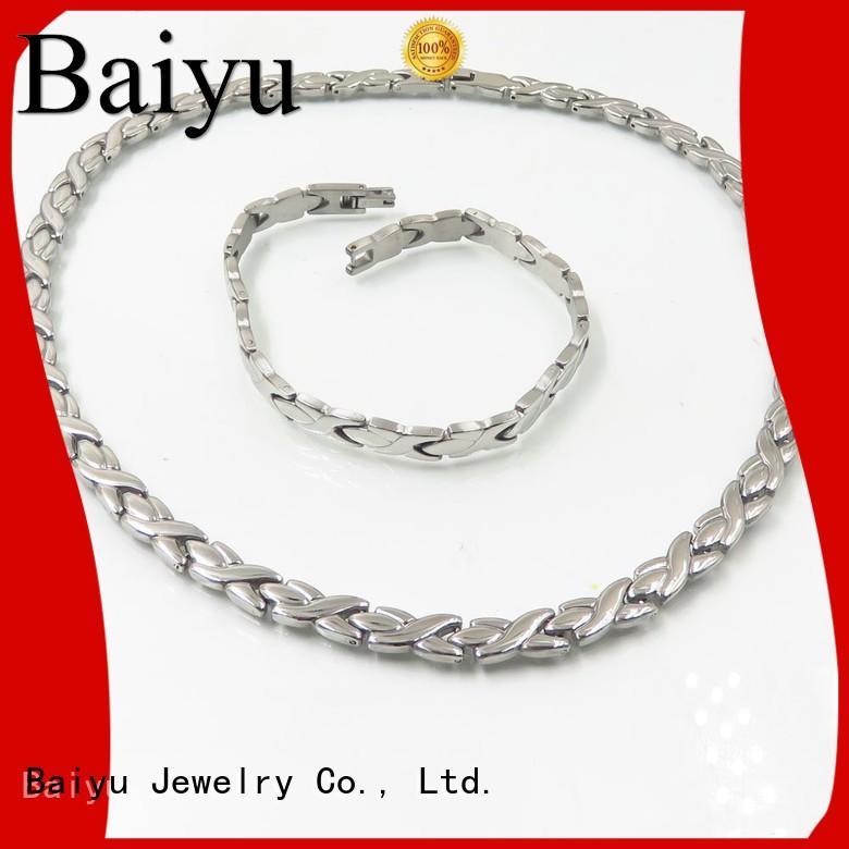 Wholesale necklace stainless steel jewelry set Baiyu Jewelry Brand
