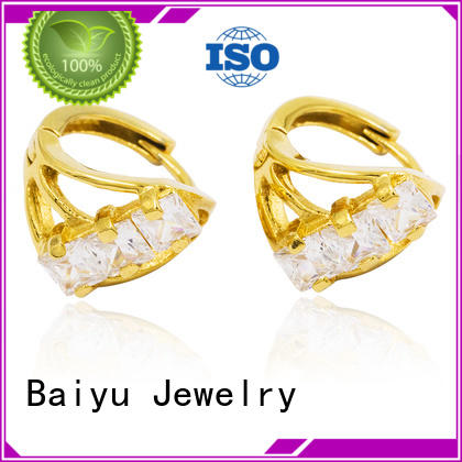 epoxy endless hoop earrings material plated for wife