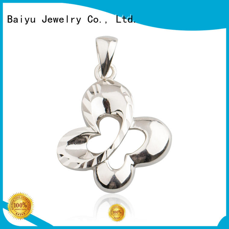 925 Sterling Silver Butterfly Charm Pendant AS004039-M112