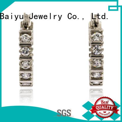 Baiyu Jewelry endless hoop earrings leaves for ladies