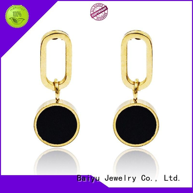 crystal style modern dangle earrings crystal style use for engagement Baiyu Jewelry