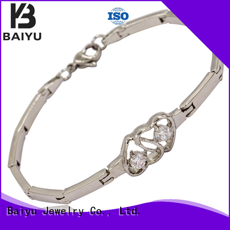 Baiyu Jewelry stainless steel chain bracelet for wholesale for girl