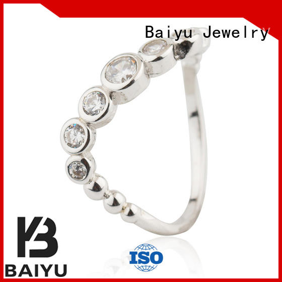 925 sterling silver rings light for engagement Baiyu Jewelry