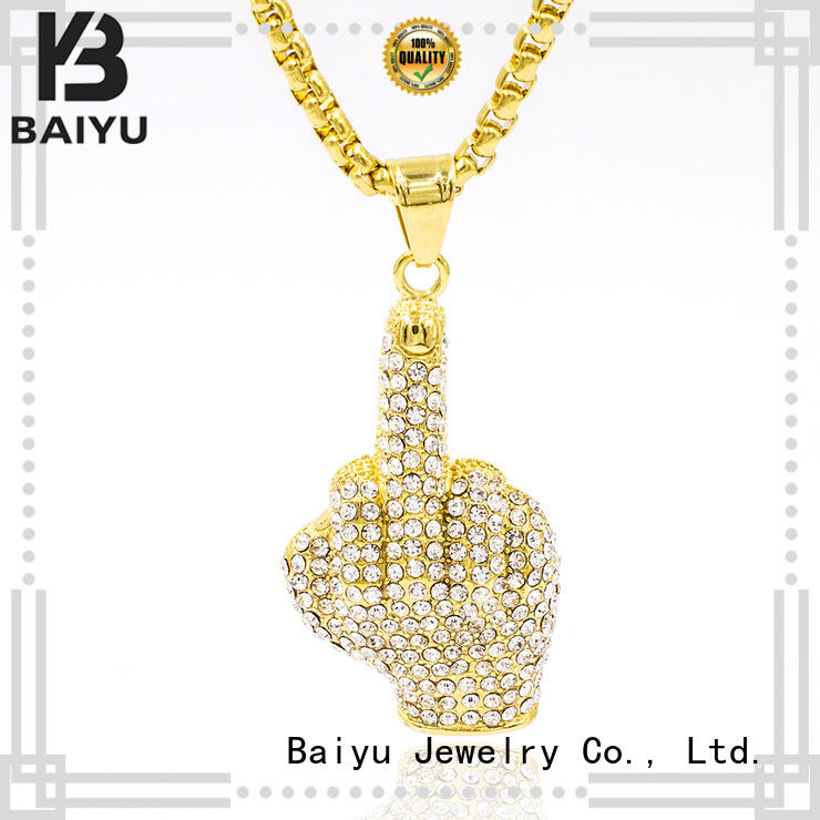 Baiyu Jewelry fashion designs 316 stainless steel chain free sample