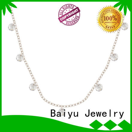 silver chain for women four leaf clover for girlfriend Baiyu Jewelry