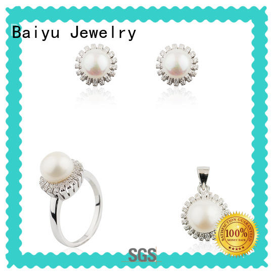 Baiyu Jewelry hot-sale ladies jewellery set necklace for women