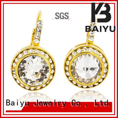 fashion rhinestone dangle earrings in any shape for girl