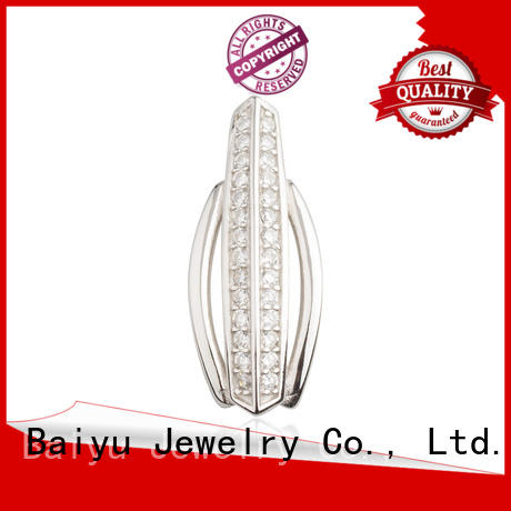 Baiyu Jewelry large sterling silver pendants luck bird for lady