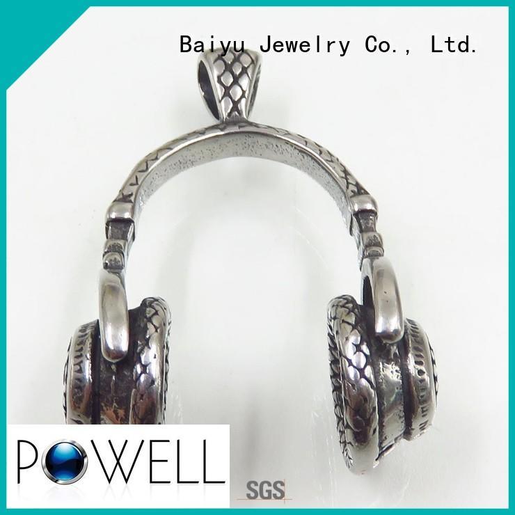 Baiyu Jewelry Brand stainless little market stainless steel pendants wholesale