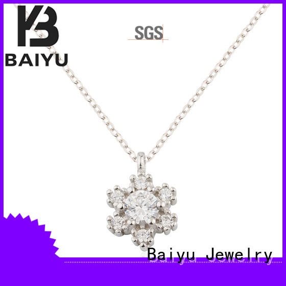 Baiyu Jewelry 925 silver necklace flat for mother