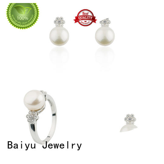 hot-sale silver jewellery set green gemstone for girls