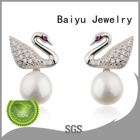 Baiyu Jewelry sterling earrings bulk production for girl