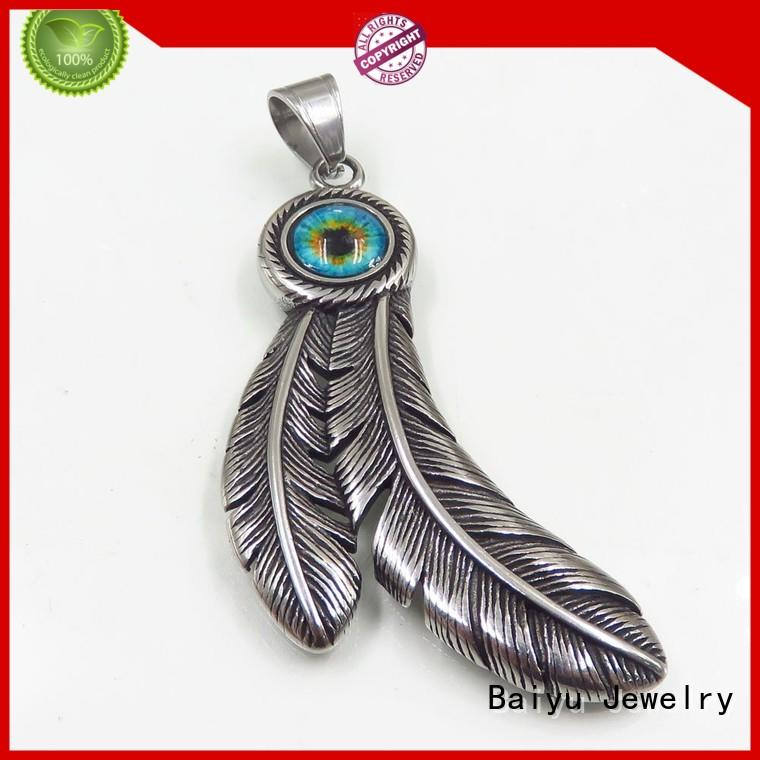 Baiyu Jewelry fashion designs stainless steel charms and pendants for wholesale for women
