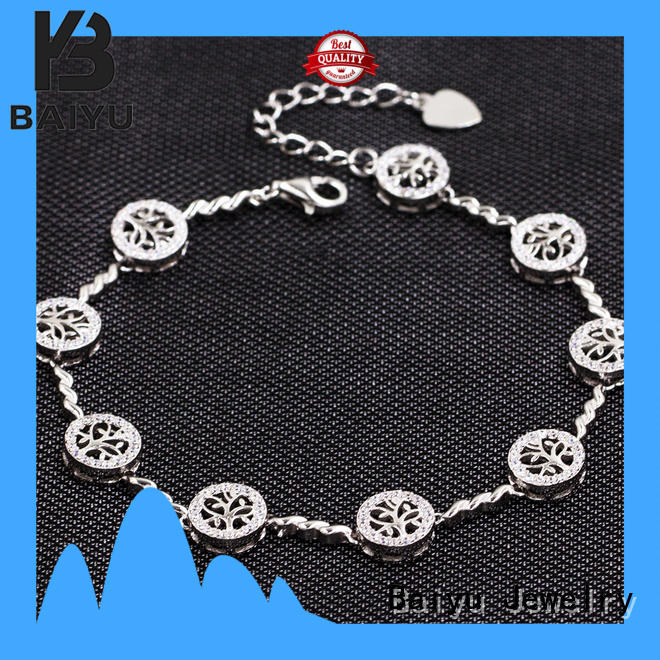 Baiyu Jewelry coloring 925 silver bracelet jewels for women