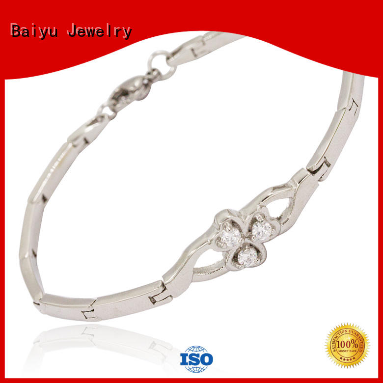 Baiyu Jewelry stainless steel bracelets for ladies bulk production for girl