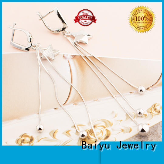 Baiyu Jewelry real silver earrings for wholesale for lady