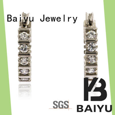 Baiyu Jewelry colorful stainless steel fashion earrings material plated for women