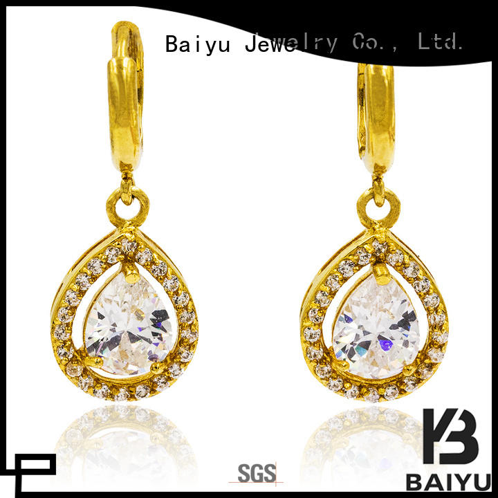 Baiyu Jewelry lucky rhinestone dangle earrings in any shape for gifts