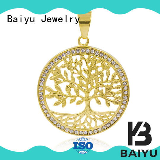 Baiyu Jewelry ruby stainless steel pendant personalized color for women